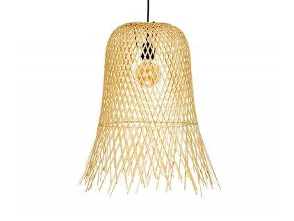 Bambusová lampa Andrea House Frayed, 50x60 cm   přírodní