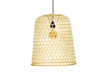 lampara de techo de bambu natural entrelazado