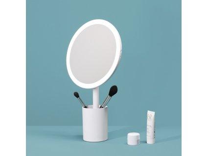 Kosmetické zrcádlo s osvětlením MMIRO Brush Holder Mirror DL06 | bílá