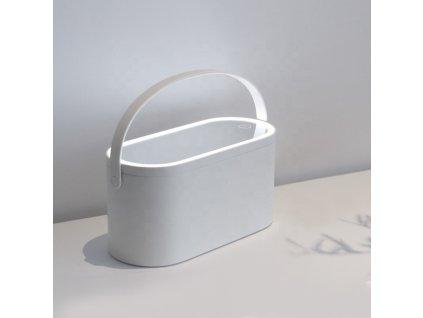 Organizér na kosmetiku s kosmetickým zrcadlem MMIRO Make-up Box BL012| bílá