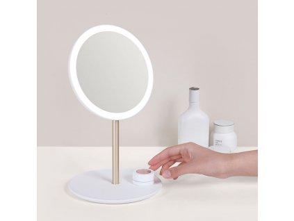 Cestovní kosmetické zrcadlo s osvětlením MMIRO Travel Make-up Mirror M02   bílá