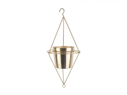 Závěsný květináč Present Time Diamond   zlatý