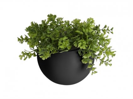 Keramický nastěnný květináč Present Time Globe   černá