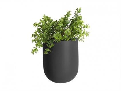 Keramický nastěnný květináč Present Time oválný | černá