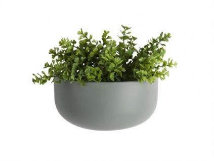 Keramický nastěnný květináč Present Time oválný   zelená