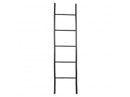 Žebřík bambus Broste RELAX 200 cm černý | černá