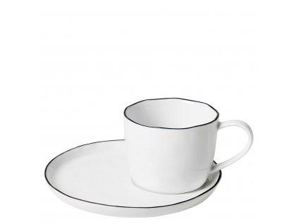Šálek na kávu Broste SALT 150 ml | bílá,černá