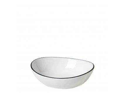 Miska Broste SALT 14cm| bílá,černá