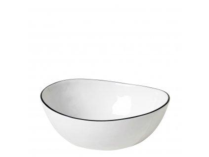 Miska na polévku Broste SALT 17 cm | bílá,černá
