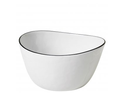 Mísa na salát Broste SALT 20cm| bílá,černá