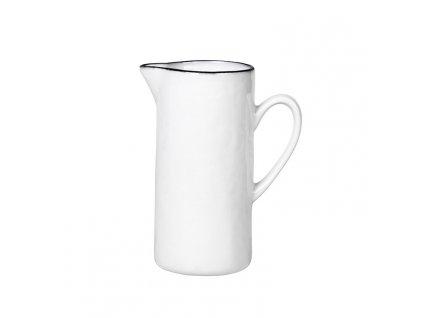 Džbán na mléko Broste SALT 250 ml | bílá,černá