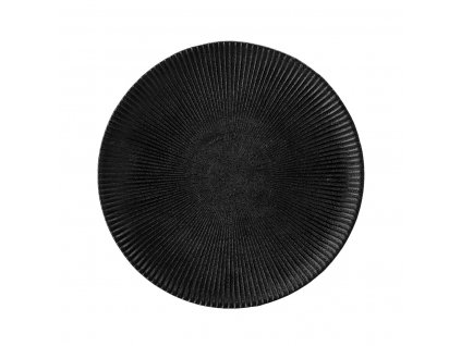 Kameninový dezertní talíř Bloomingville Neri 23 cm | černá
