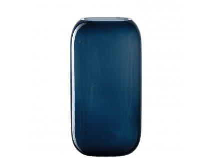 Skleněná váza Leonardo MILANO modrá 28x15 cm | modrá