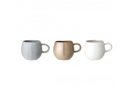 Hrnek Bloomingville Addison, 3 druhy (cena za kus)| šedá,hnědá,krémová