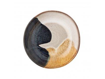 Mísa Bloomingville Jules - 22 cm| černá,krémová,zlatá