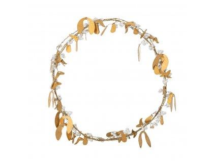 Dekorační věneček zlaté jmelí Bloomingville P.30,5 cm | mosazná