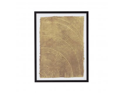Obraz v černém dřevěném rámu Bloomingville Haco 32x42cm| žlutá,černá