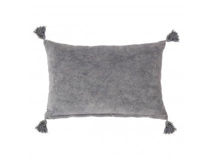 Polštář včetně výplně, Bloomingville 60x40 cm - šedý| šedá