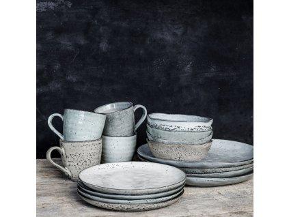 Mělký talíř House Doctor Rustic Grey/Blue , 27.5 cm   šedá, modrá