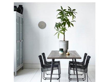 Nástěnné hodiny House Doctor Watch Concrete | šedá