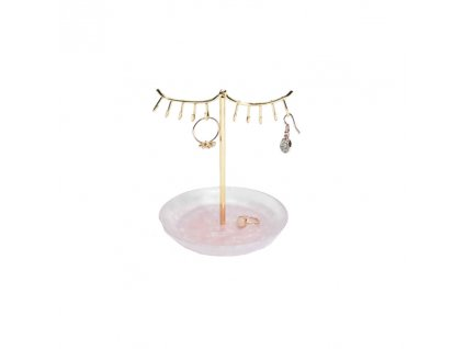 Stojan na šperky Stackers Rose Quartz 10-Hook Eyelash | růžová