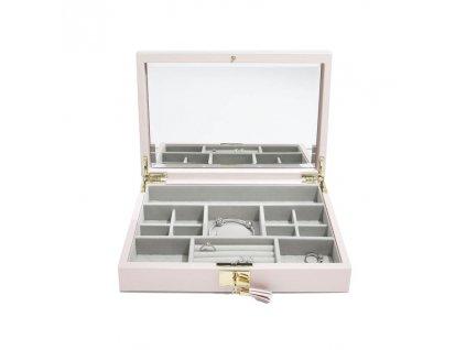 Šperkovnice Stackers Blossom Pink Leather Lid | růžová