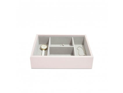 Box na šperky Stackers Blossom Pink Leather Watch/Accessories | růžová