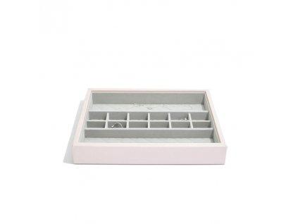 Box na šperky Stackers Blossom Pink Leather Small Accessories | růžová