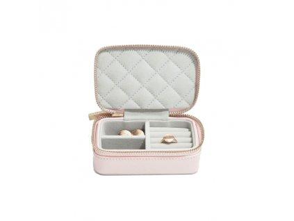Cestovní šperkovnice Stackers Blossom Pink Leather Travel | růžová