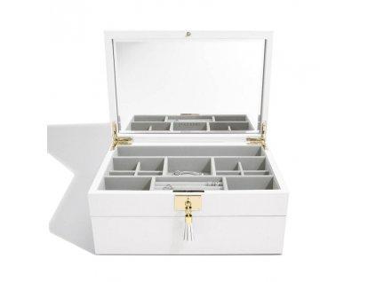 Šperkovnice Stackers Orchid White Leather | bílá