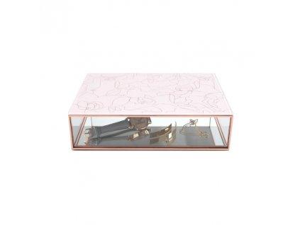 Krabička na šperky Stackers Pink Floral Classic Trinket Boxes | růžová