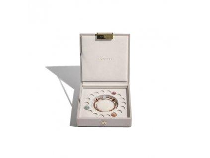 Šperkovnice Stackers Taupe Charm Box | šedobéžová