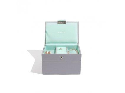 Šperkovnice Stackers Grey Mint Mini | tyrkysová