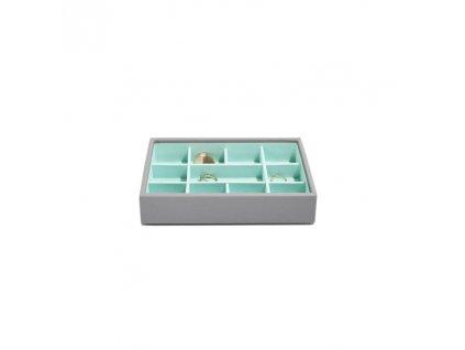 Box na šperky Stackers Grey Mint Mini 11 | tyrkysová