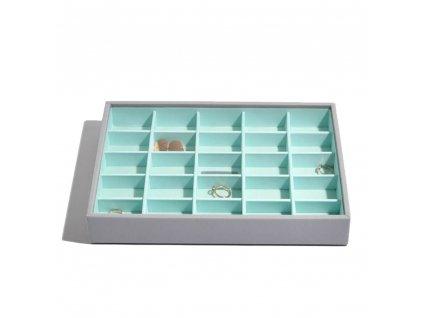 Box na šperky Stackers Grey Mint Classic 25   tyrkysová