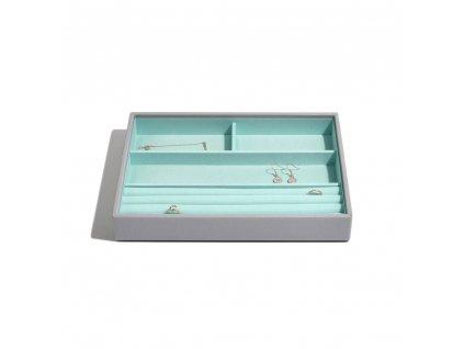 Box na šperky Stackers Grey Mint Classic 4 | tyrkysová