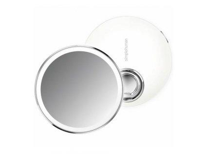 Kapesní zrcátko s LED osvětlením Simplehuman Sensor Compact | nerez, bílá