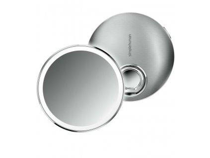 Kapesní zrcátko s LED osvětlením Simplehuman Sensor Compact | nerez, stříbrná