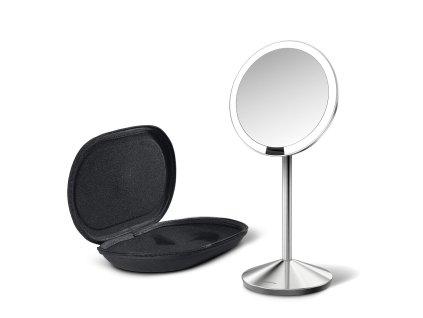 Cestovní kosmetické zrcadlo s LED osvětlením Simplehuman Sensor Mirror Mini   stříbrná