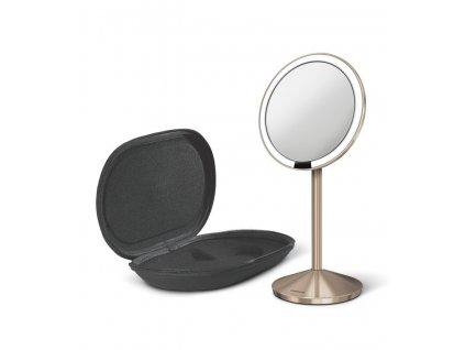 Cestovní kosmetické zrcadlo s LED osvětlením Simplehuman Sensor Mirror Mini | měděná