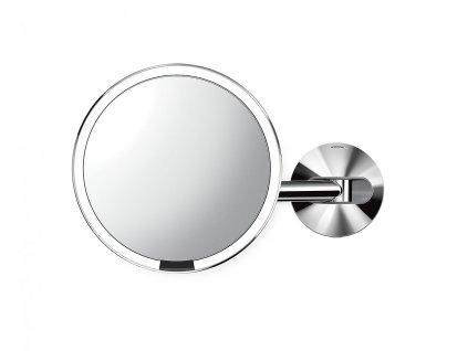 Nástěnné kosmetické zrcadlo s LED osvětlením Simplehuman Sensor, síťové, 20 cm   lesklá nerez