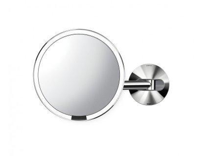 Nástěnné kosmetické zrcadlo s LED osvětlením Simplehuman Sensor, dobíjecí, 20 cm | lesklá nerez