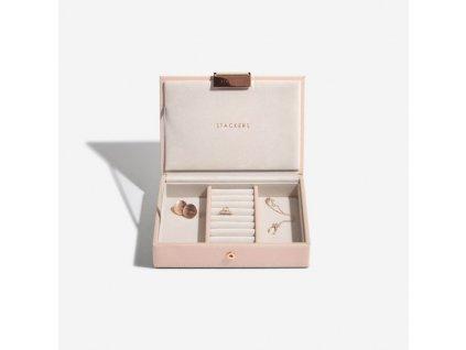 Šperkovnice Stackers Blush Mini Lid | růžová