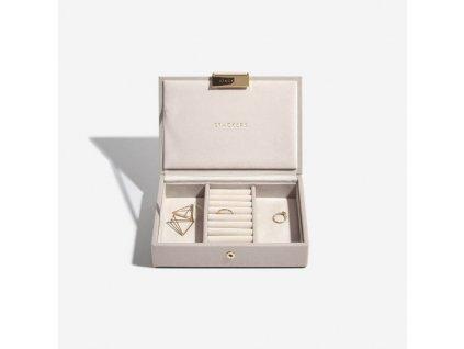 Šperkovnice Stackers Taupe Mini Lid | šedobéžová