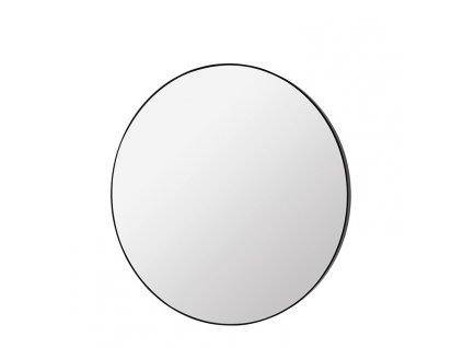 Kulaté zrcadlo Broste Complete 80 cm | černé