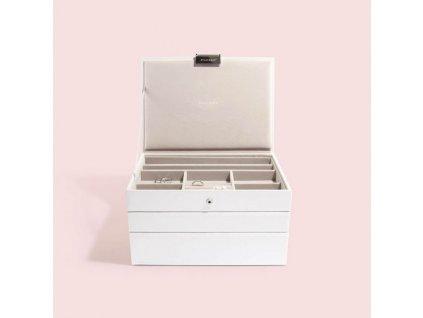 Šperkovnice 3 v 1 Stackers White Classic Set | bílá