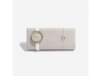 Polštář na hodinky do šperkovnice Stackers Grey Velvet Watch/Bracelet Pad | šedobéžová