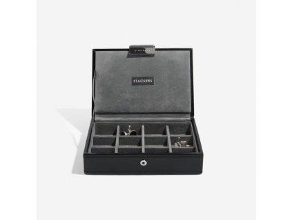 Pánská šperkovnice Stackers Black Cufflink Box | černá