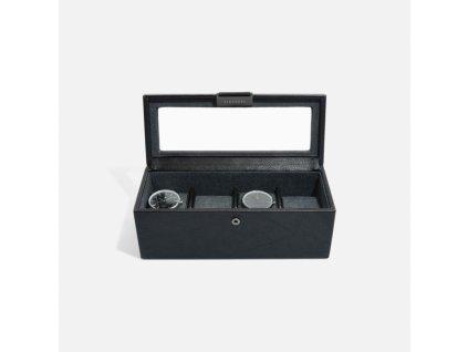 Kazeta na hodinky Stackers Black 4 Piece Watch Box | černá
