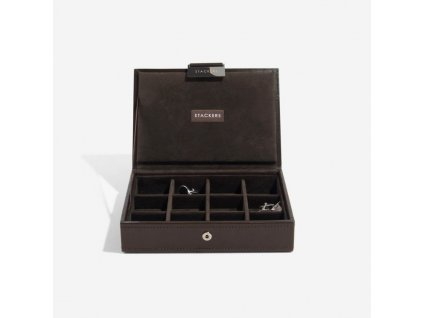 Pánská šperkovnice Stackers Brown Cufflink Box | hnědá